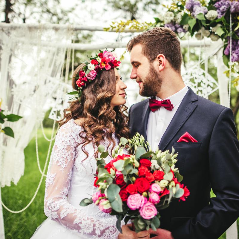 svatba, nevěsta, ženich, novomanželé