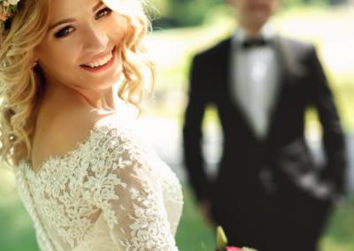 svatba, nevěsta, svatební šaty